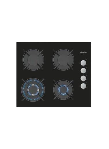 Simfer Simfer 3508 Düğmeden Dokunmatik Ateşleme Sistemi Wok Gözlü Cam Ankastre Ocak Renkli